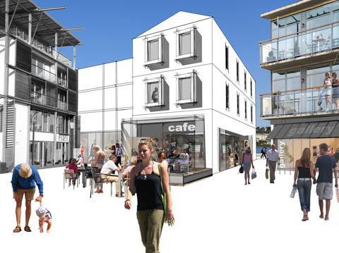 Sketch of quayside area